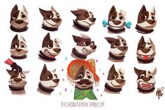 Ideas Dogs Love Illustration Design Reference For 2019 Dog Illustration, Illustrations, Character Illustration, Character Model Sheet, Character Modeling, 3d Character, Character Design Animation, Character Design References, Animal Design
