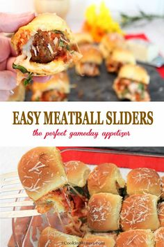 Easy Meatball Sliders Easy Meatball Sliders, meatballs, smothered in sauce and cheese, and sandwiched in the perfect size Quick Meals To Make, Easy Meals, Best Appetizers, Appetizer Recipes, Clean Eating Snacks, Healthy Snacks, Meatball Sliders, Appetizer Sandwiches, Snacks Sains