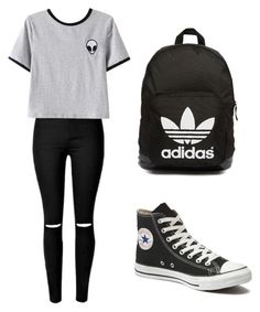"""Tumblr"" by e29mahoney ❤ liked on Polyvore featuring Chicnova Fashion, Converse and adidas Originals"