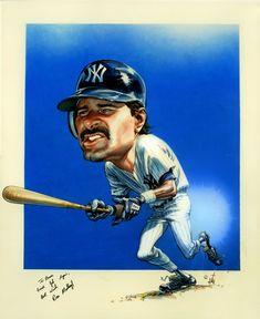 Don Mattingly Baseball Star, New York Yankees Baseball, Baseball Cards, Ny Yankees, Funny Caricatures, Celebrity Caricatures, Star Trek Posters, Flash Comics, Caricature From Photo