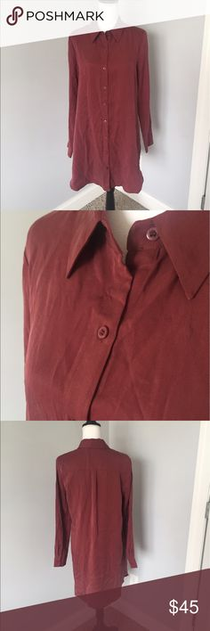 Sale🎉 Nordstrom WAYF Red Button Down Dress This dress is in excellent condition! Has an extra button as well! The best picture to show the true color is the fourth one. 36in long, shoulder to shoulder is 16in 3/4in, armpit to armpit is 20in. Offers welcomed! Nordstrom Dresses Long Sleeve