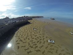 9000-sand-drawings-commemorate-the-fallen-on-D-day-designboom-02.jpg (818×614)