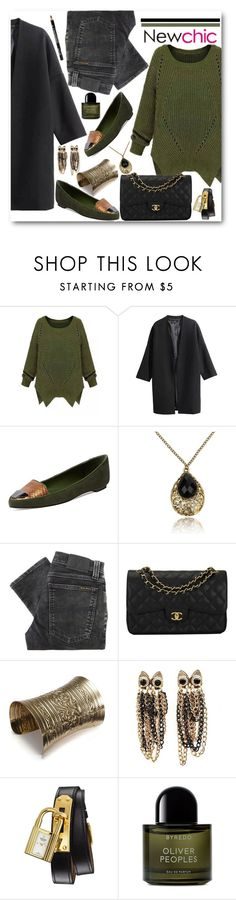 """Newchic Green Sweater"" by brendariley-1 ❤ liked on Polyvore featuring Saint & Libertine, Nudie Jeans Co., Chanel, Hermès, Byredo, NYX, women's clothing, women, female and woman"