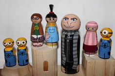 Despicable Me Movie Inspired characters wooden by LittleDebiSnack, $55.00