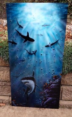 The Beauty of Fear - airbrush painting by Lorrie Bridges