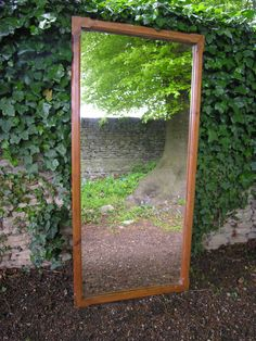 c.1890s ORIGINAL ANTIQUE 19th C. FRENCH HABERDASHERY MIRROR, WALL / OVERMANTLE from WWW.HUTCHISONANTIQUES.COM