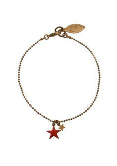 Bracelet star rouge - Virginie Monroe