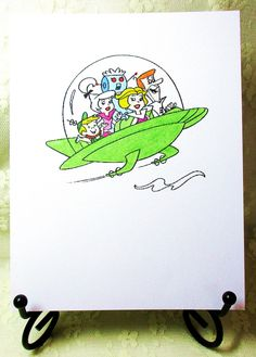 The Jetsons Card by HollenmarkCardDesign on Etsy