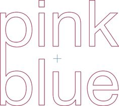 Pink + Blue...cute, now defunct blog