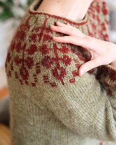 Ravelry: Florarium Sweater pattern by Teti Lutsak Sweater Knitting Patterns, Knit Patterns, Crochet Hooks, Crochet Baby, Motif Fair Isle, Drops Kid Silk, Ravelry, Fair Isle Knitting, Loom Knitting