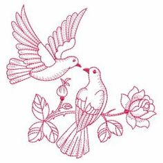 Vintage Roses and Doves 04(Md) machine embroidery designs