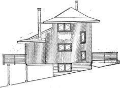 План Кабины Задний Фасад Дома 90633