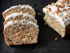 This carrot cake bread is moist and delicious and the low-fat cream cheese is to die for! It is a treat you can feel good about serving to your family.
