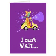 Scooter Witch greeting card - Halloween happyhalloween festival party holiday