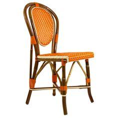 Orange & Cream Mediterranean Bistro Chair from Maison-Midi.com