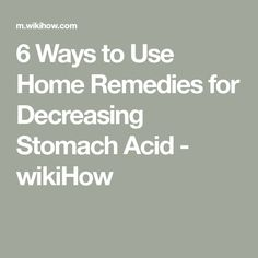 How to Use Home Remedies for Decreasing Stomach Acid. Stomach acid helps your body digest food, so it's necessary for good health. However, excessive stomach acid can lead to acid reflux or a disease called gastroesophageal reflux disease. Acidity Remedies, Home Remedies, Natural Remedies, Stomach Acid, Heartburn, Canning, Healthy, Nature, Phone