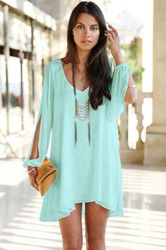 Trendy Sapphire Chiffon Leisure Jersey Her Mini Dress