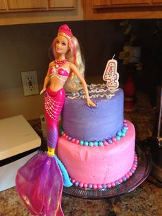 Barbie in the Pearl Princess movie themed birthday party.
