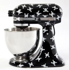 "SO want my Kitchen Aide mixer to look like this!! Would go perfect with my ""coffin"" kitchen!"