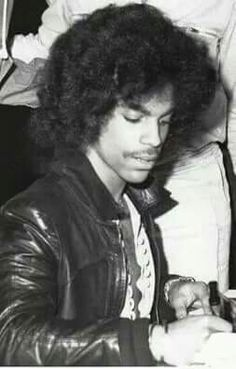 1979 Prince.  I wonder how he felt, signing his first autographs, and realizing he really had fans.  <3