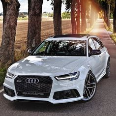 The new RS6 is such a jawdropper. How can a car be so perfect? It\'s just so beautiful and so masculine. Don\'t tell me your pulse didn\'t rise after seeing this picture. If it didn\'t stick to horses! Lol Car: 2016 @Audi RS6 Avant (560hp V8 4.0 TwinTurbo) Color: Ibiz white metallic Performance: 0-100kmh 3.65sec (measured) 39 sec (official) Location: Malmö Sweden Facebook: ift.tt/1sUXuHP Camera: Canon Eos 5D Mark II / 24-70mm Thanks to: Audi Malmö #auditography #audi #rs6 #quattro #audis6...