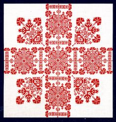 Hungarian Embroidery Tablecloth embroidery of Austria - Cross Stitch Borders, Cross Stitch Samplers, Cross Stitching, Cross Stitch Patterns, Chain Stitch Embroidery, Embroidery Stitches, Embroidery Patterns, Hungarian Embroidery, Folk Embroidery