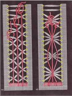 This is really delicate and beautiful, it would be lovely to work into a project as a border or a stained glass window Hardanger Embroidery, Hand Embroidery Stitches, Hand Embroidery Designs, Embroidery Techniques, Cross Stitch Embroidery, Embroidery Patterns, Monks Cloth, Drawn Thread, Point Lace