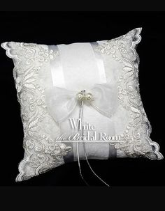 Wedding Ring Bearer Pillow / Lace Ring by theWhiteBridalRoom