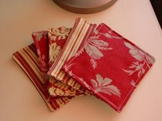 Holy Craft: Fabric coasters
