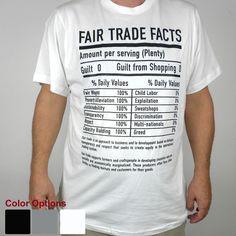 Unisex Fair Trade Tee Shirt Fair Trade Facts - Freeset