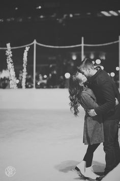 Winter Engagement Session Ideas | Ice Skating at the Landmark Center in Saint Paul, MN | See more here hhttp://www.oneone.co/blog/engagement-session-favorites-of-2013