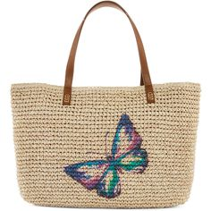 Straw Studios Graphic Straw Tote ($24) ❤ liked on Polyvore featuring bags, handbags, tote bags, straw tote, white tote, handbags totes, white purse and beach tote bags