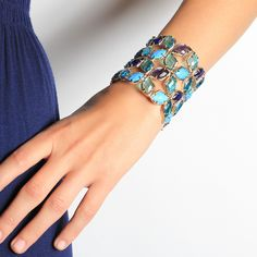 Great Iris Paley cuff for the holidays!