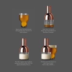 Menu Beer Foamer by Norm Architects   Create dense aromatic foam for your craft beers   MenuDesignShop.com