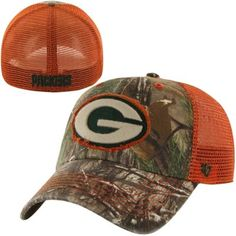 Green Bay Packers  47 Brand Frost Adjustable Hat – Realtree Camo ... 0dd09a693