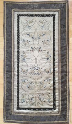 Antique 19th Century  Chinese Silk Embroidery Weaving Panel- Very Fine