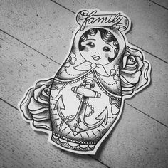 nesting doll tattoo - Google Search