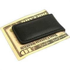 The Black Genuine Leather Money Clip Wallet will keep the cash and cards organized by securing it with a powerful magnetic closure. Yet another ingenious idea for Gifts for Groomsmen, Gifts for Fathers Day or Birthday Gift for just $14.99.