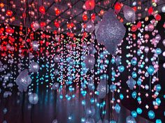 pipilotti rist pixelwald (pixel forest), 2016 hanging LED light installation and media player; 20:55 min | dimensions variable
