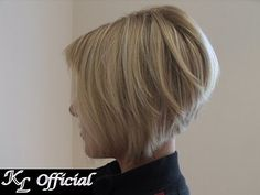 Angled bob. I would so get my hair cut like this if i wasnt so in love with my long hair