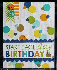 Laura Vegas created this card using the Birthday Boy collection from Bella Blvd  I love the circles and colors!