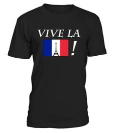 # Vive La France! French Flag T-Shirt .   This stylish Vive La France T-Shirt with the French flag is perfect so celebrate Bastille Day. Also says Liberte, Egalite, Fraternite, the national motto of France. Perfect for French patriots to celebrate Bastille Day on 14 Juillet/July.  TIP: If you buy 2 or more (hint: make a gift for someone or team up) you'll save quite a lot on shipping. Guaranteed safe and secure checkout via:  Paypal | VISA | MASTERCARD Click the GREEN BUTTON, select your…