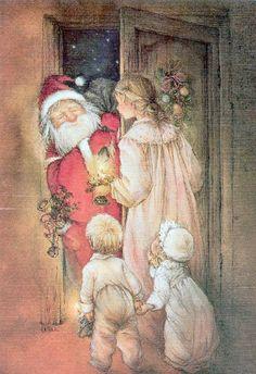 VI MAMÁ besar de Papá Noel El Ronettes Letra y Música Infantil de Navidad en Todos los idiomas | Imágenes y figuras