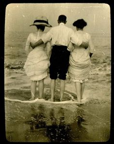 a day at the seaside, postcard, 1912
