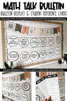 Math Classroom Decorations, Classroom Design, Classroom Activities, Themes For Classrooms, Elementary Classroom Themes, Modern Classroom, Elementary Math, 5th Grade Classroom, School Classroom