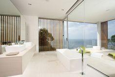 a white modern bathroom