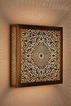 Moroccan lampshade, indoor moroccan lampshade, mosaic lampshade, copper lampshade, Arabian lampshade - Home Decor Moroccan Lighting, Moroccan Decor, Moroccan Interiors, Moroccan Lanterns, Copper Lampshade, Plafond Design, Copper Decor, Pooja Rooms, Ceiling Design