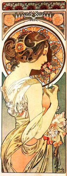 I love art nouveau prints <3 This would have to be the one for the sleeve