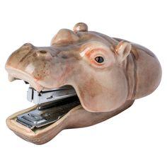 Hippopotamus Porcelain Stapler