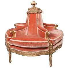 A Louis XVI Carved  Gilt Beechwood Boudeuse (a sofa or settee, usually upholstered, having two seats with a common backrest between them) circa 1780, sold for $7,500 recently at Doyle. I am feeling the need for a French moment.  If only I had another room to completely decorate in the French 18th century style.